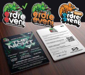 Erdre Event | logo & flyer A5 recto/verso