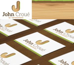 John Croué | logo & carte de visite