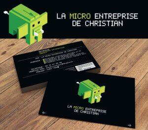 La micro entreprise de Christian - Création logo & carte de visite
