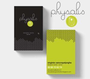 Physalis   carte de visite