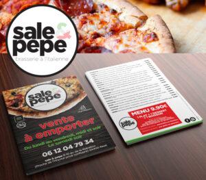 Sale&Pepe | logo & flyer A5 recto/verso